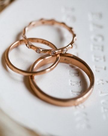 Rose Gold wedding rings April 8 2010 at 807 am Posted in style