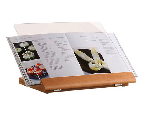 wood cookbook holder